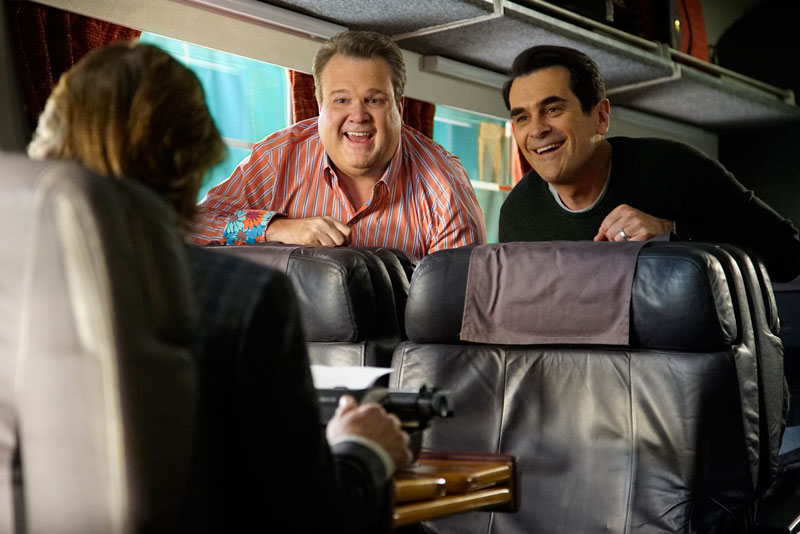 "All Crops: MODERN FAMILY - ""Crazy Train"" - Dede is getting remarried, and Manny convinces the family to take the train up to the wedding. Jay could not be more ecstatic that Dede has moved on for good but his overenthusiasm might"