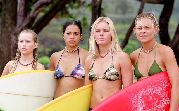 Mika Boorem, Michelle Rodriguez, Kate Bosworth, and Sanoe Lake as Penny Chadwick, Eden, Anne Marie Chadwick, and Lena in Blue Crush