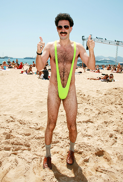 Sacha Baron Cohen as Borat in Borat