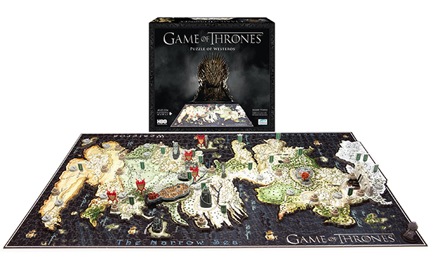 4D Puzzle Map of Westeros