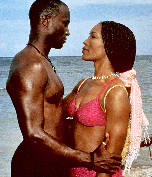 Taye Diggs and Angela Bassett as Winston Shakespeare and Stella Payne in How Stella Got Her Groove Back
