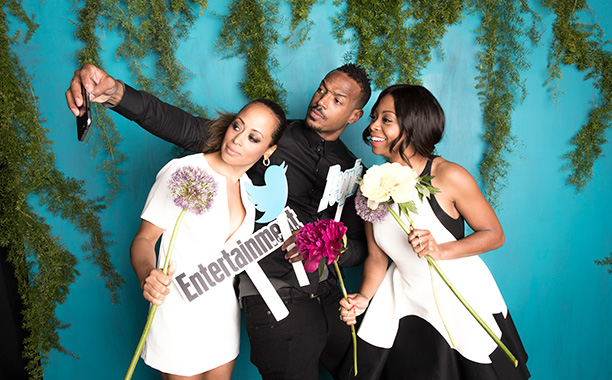 Essence Atkins, Marlon Wayans, and Bresha Webb