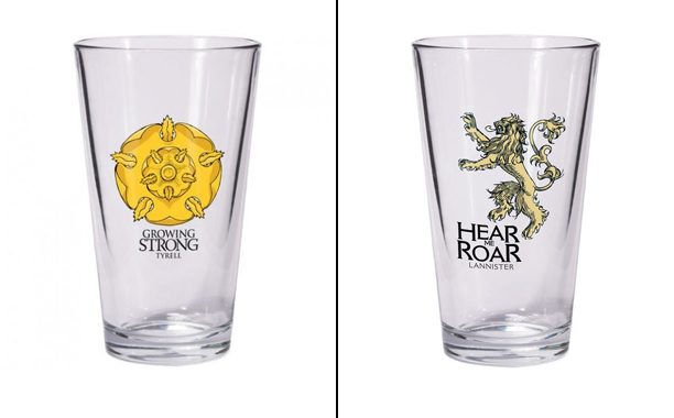 House Tyrell and House Lannister Pint glasses