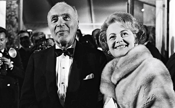Olivia de Havilland With Charles Boyer at the Cannes Film Festival on May 24, 1965.