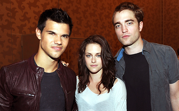 Robert Pattinson With Taylor Lautner and Kristen Stewart in San Diego, Calif. for The Twilight Saga: Breaking Dawn - Part 1 on July 21, 2011