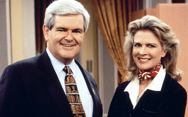 Newt Gingrich on Murphy Brown in 1996