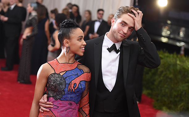 Robert Pattinson With FKA Twigs at the Costume Institute Benefit Gala at the Metropolitan Museum of Art on May 4, 2015