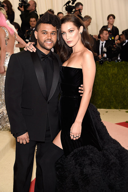 The Weeknd and Bella Hadid (in Givenchy)