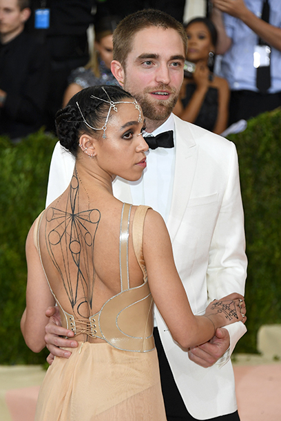 Robert Pattinson With FKA Twigs at the Costume Institute Gala at the Metropolitan Museum on May 2, 2016