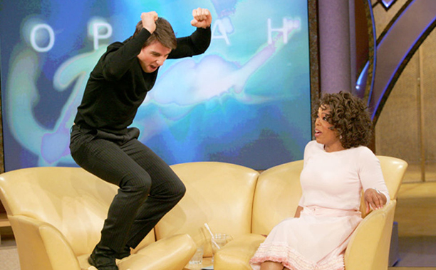 Tom Cruise jumping on the couch (May 2005)