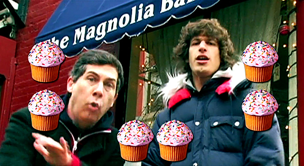"Lyric: ""Let's hit up Magnolia and mack on some cupcakes"""