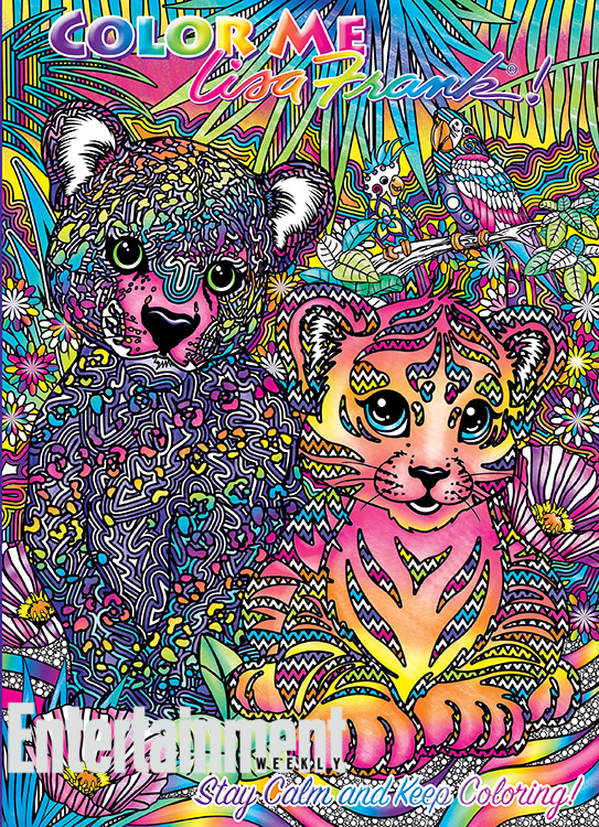 Cats With Roses From Lisa Frank Coloring Page - Free Printable ... | 750x543