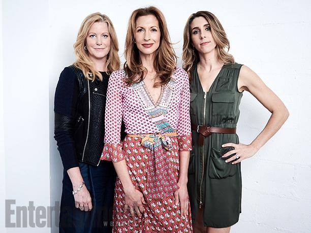 "Anna Gunn, Alysia Reiner, and Sarah Megan Thomas from ""Equity"""