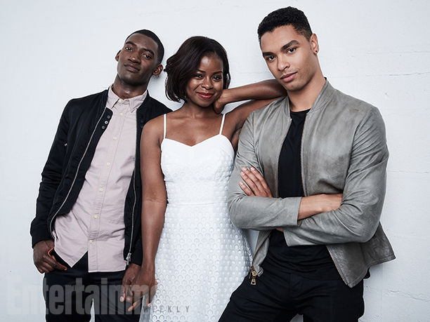 "Malachi Kirby, Erica Tazel, and Rege-Jean Page from ""Roots"""
