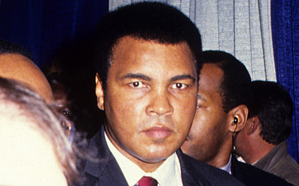 Muhammad Ali at a boxing match in April 1991