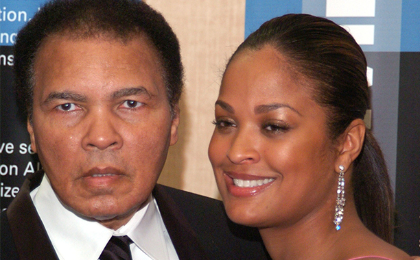 Muhammad Ali and Daughter Laila