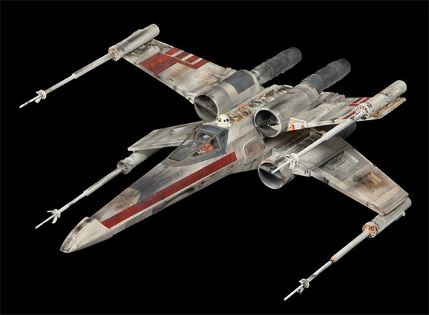 'Star Wars: Episode IV - A New Hope' original screen-used X-Wing Fighter miniature