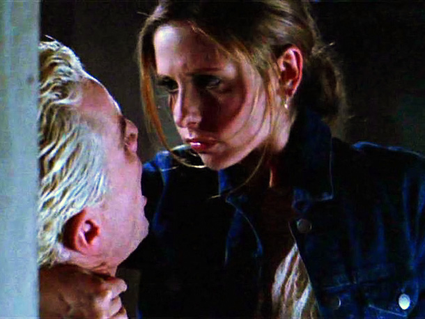 James Marsters, Sarah Michelle Gellar, ... | The sexual tension between Buffy and Spike had long been bubbling like blood from a pierced jugular, and at the end of season 6's ''Smashed''…