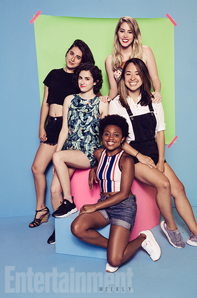 Quinta Brunson, Kelsey Darragh, Sara Rubin, Ashly Perez, and Quinta Brunson of BuzzFeed Violet