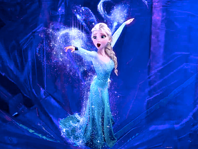 Elsa metaphorically ''lets her hair down'' as she belts out ''Let It Go'' in the chilly breeze of her private ice palace — yet it's…