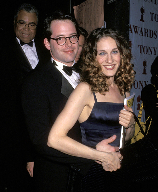 Presenter Matthew Broderick and Then-Girlfriend Sarah Jessica Parker
