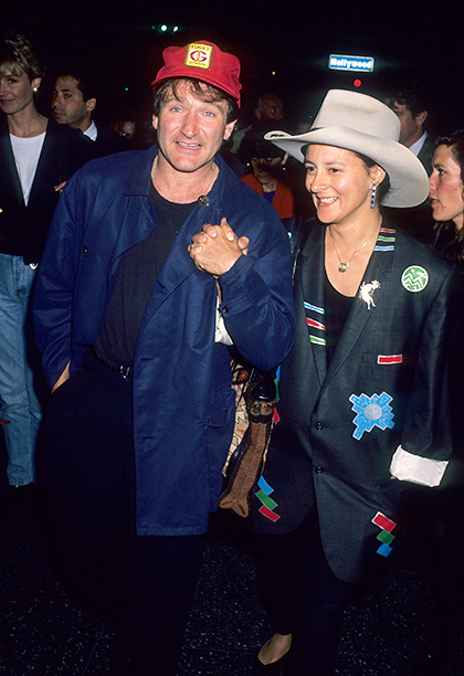 Robin Williams and Marsha Garces-Williams