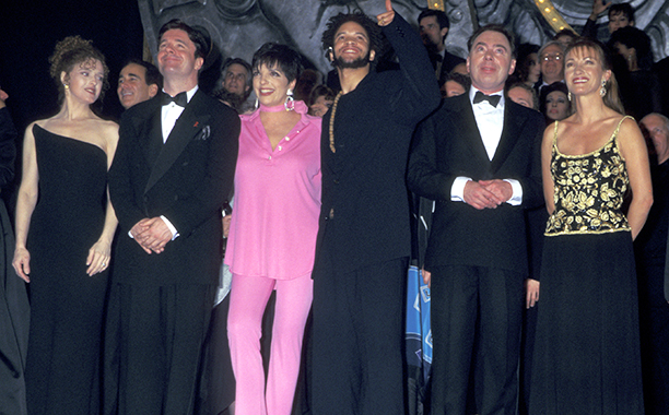 Bernadette Peters, Nathan Lane, Liza Minnelli, Savion Glover, Andrew Lloyd Weber, and Jane Seymour