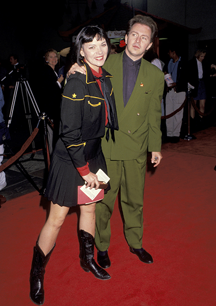 Kim Cattrall and Gerald Casale