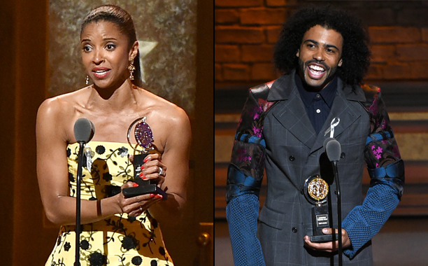 Renee Elise Goldsberry and Daveed Diggs win for Hamilton