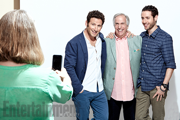 Mark Feuerstein, Henry Winkler, and Paulo Costanzo of Royal Pains