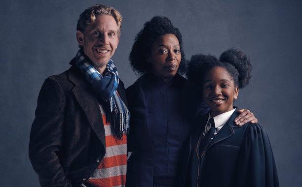 Paul Thornley as Ron Weasley, Noma Dumezweni as Hermione Granger, and Cherrelle Skeete as Rose Granger-Weasley