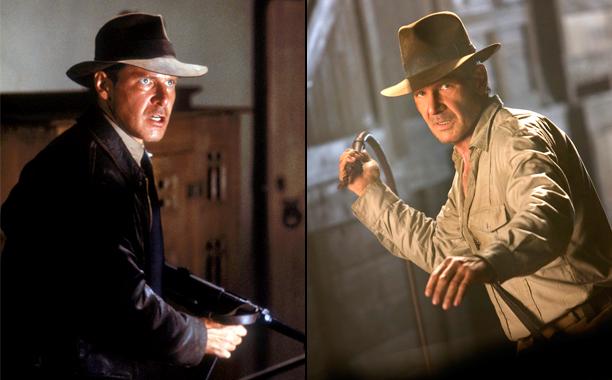 Indiana Jones and the Last Crusade (1989); Indiana Jones and the Kingdom of the Crystal Skull (2008)