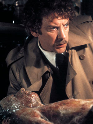 Invasion of the Body Snatchers (Movie - 1978), Donald Sutherland | Stripped of its Cold War paranoia, director Philip Kaufmann's thriller about pod people from outer space surreptitiously replacing human beings is a delectable creep show.…