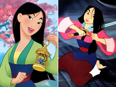 Mulan | She just samurai'd it off (in a perfect line!) to achieve ultimate fun-girl-non-fake-man hair. A crucial element of good hair has always been ballsy styles.…