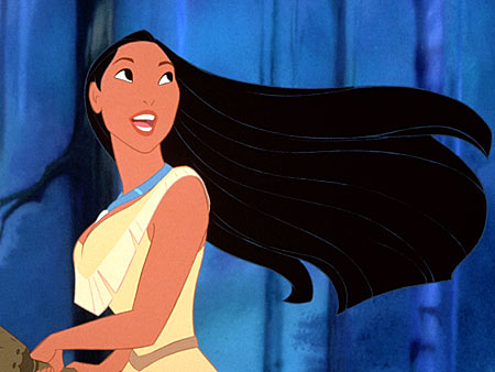 Pocahontas | This ain't no Tyra-inflicted wind machine. This is REAL WIND. With all the colors! The wind is her brush and her deep conditioner. It's also…
