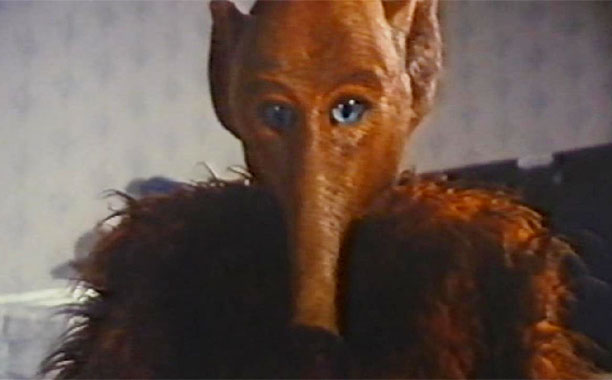 Unwatchable without the smartassery of MST3K , this boy-finds-an-alien rip-off of E.T. features a furry, vacuum-snouted ALF-esque creature who's all cute and such...until its mother…