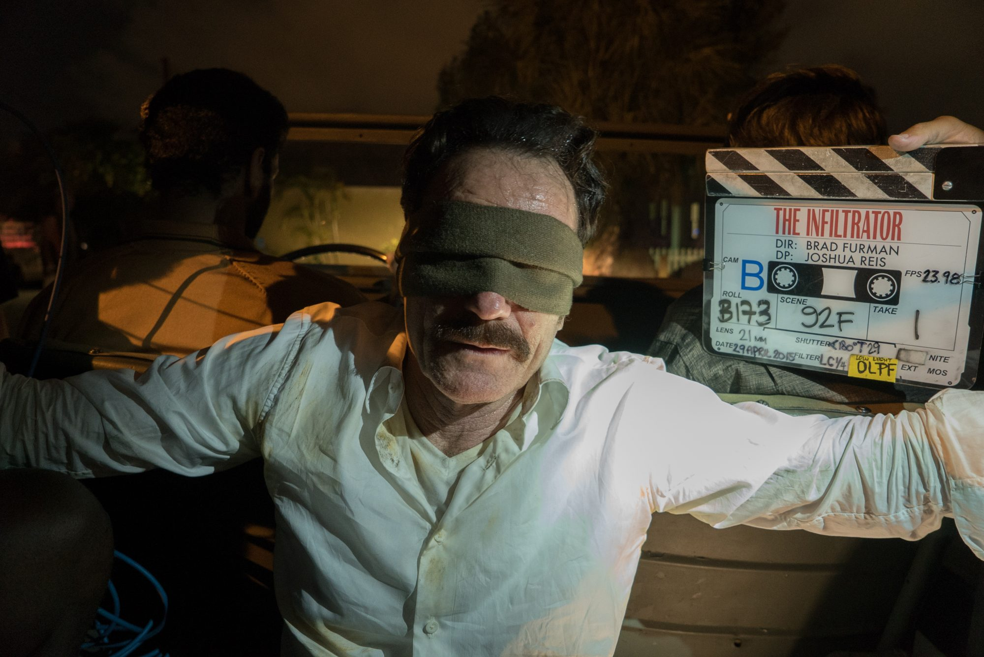 Actor Bryan Cranston readies for action on the set of THE INFILTRATOR, a Broad Green Pictures release.Credit: David Lee / Broad Green Pictures