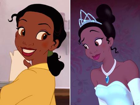 The Princess and the Frog | It took Disney eight billion years to finally give us an African-American princess, and this is her hair? Boooo-riiiiiing . The Cinderella-esque transformation from day…