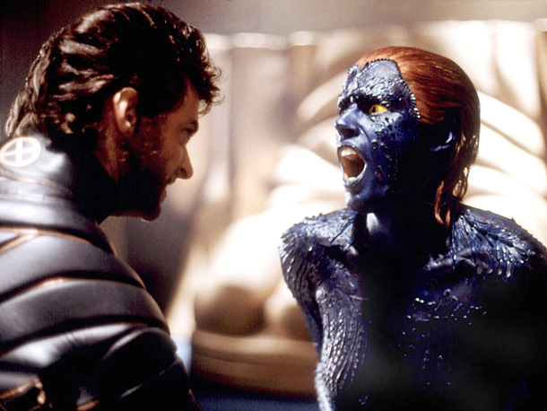 Hugh Jackman, Rebecca Romijn, ... | When X-Men came out, ''Rebecca Romijn-Stamos paint applicator'' was probably one of the best gigs in Hollywood, right after ''John Stamos.'' Watching the lithe, cerulean…