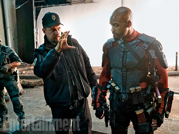 Director David Ayer and Will Smith as Deadshot