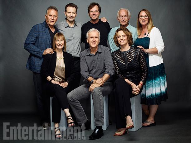 Paul Reiser, Michael Biehn, Bill Paxton, Lance Henriksen, Carrie Henn, Sigourney Weaver, James Cameron, and Gale Anne Hurd, 'Aliens'