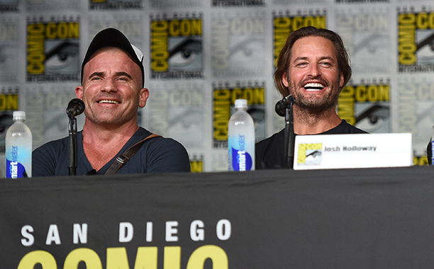 Dominic Purcell and Josh Holloway at the Entertainment Weekly: Brave New WarriorsPanel