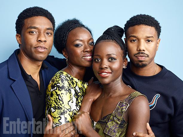 Chadwick Boseman, Danai Gurira, Lupita Nyong'o, and Michael B. Jordan, 'Black Panther'