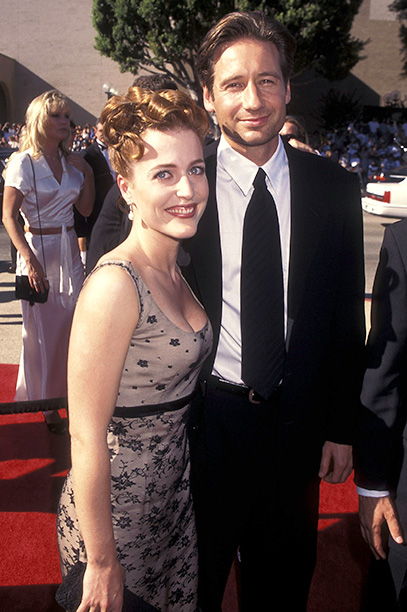 Outstanding Lead Actress in a Drama Series Nominee Gillian Anderson (The X-Files) and David Duchovny