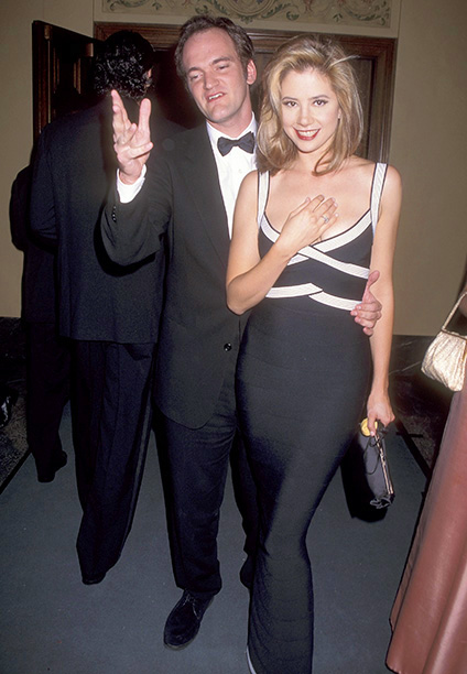 Quentin Tarantino and Outstanding Lead Actress in a Miniseries or a Special Nominee Mira Sorvino (Norma Jean & Marilyn)