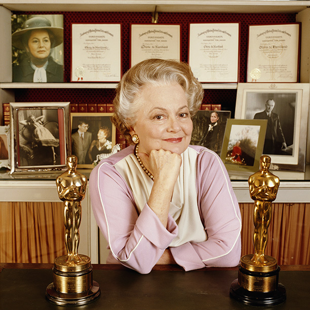 Olivia de Havilland in 1990