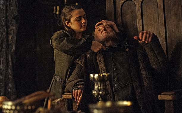 Arya goes to Winterfell