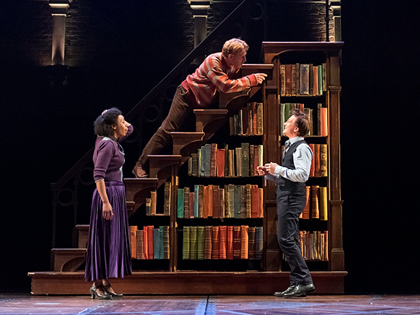 Hermione, Ron and Harry tackle a very unique bookcase
