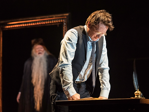 Harry tries to solve a problem, as Dumbledore's portrait offers some advice