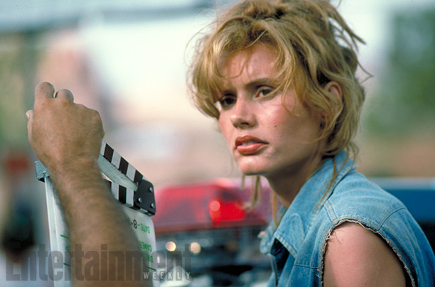 Geena Davis On Set